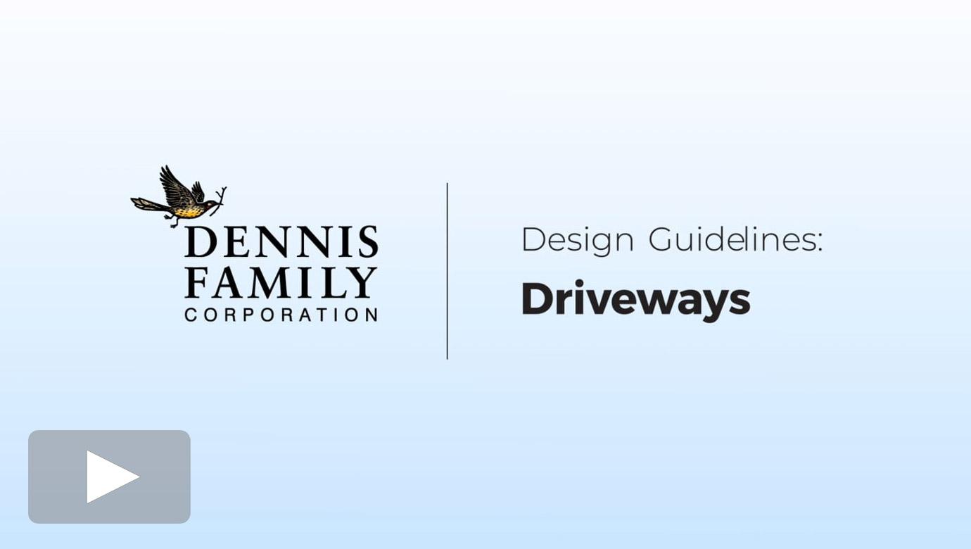 Design Guidelines - Driveways