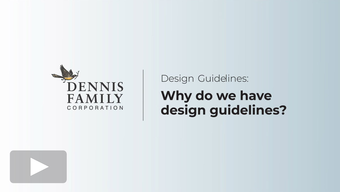Why do we have design guidelines?